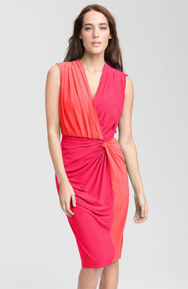 Maggy London Two Tone Sleeveless Jersey Dress