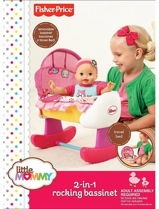 Fisher-Price lil' mom 2-in-1 rockin' doll bassinet