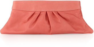 Lauren Merkin Louise Leather Clutch, Coral