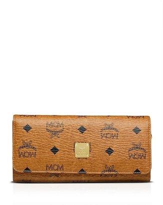 MCM Wallet - Textured Heritage Flap