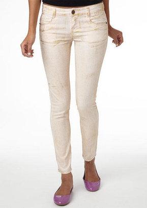 Delia's Gold Foil Skinny Jean