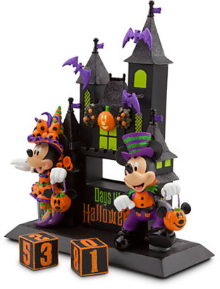 Disney Minnie and Mickey Mouse Sculpted Halloween Countdown Calendar
