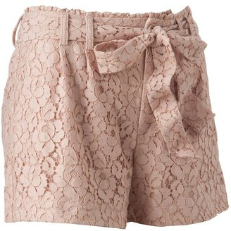 Lauren Conrad pleated lace shorts