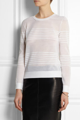 Calvin Klein Collection Striped fine-knit wool-blend sweater