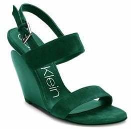 Calvin Klein Suede Wedge Sandals