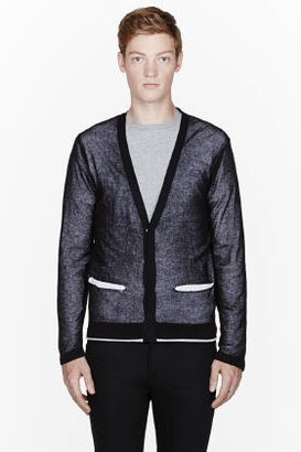 Diesel Black layered K-Vesta cardigan