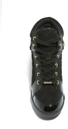GUESS Hevin Quilted Wedge Sneakers with Chain
