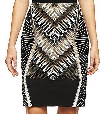 JCPenney Worthington® Printed Pencil Skirt - Petite