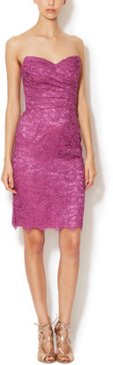 Dolce & Gabbana Lace Ruched Sweetheart Dress