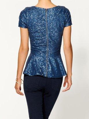 Juicy Couture Tinley Road Sequin Peplum Top