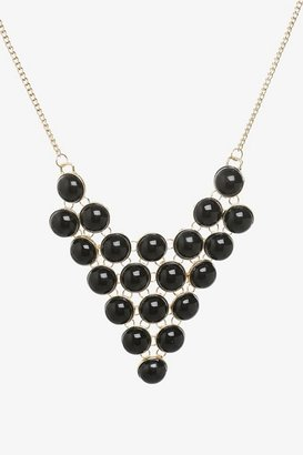 Black Bauble Statement Necklace