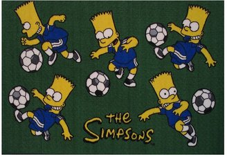 The Simpsons Fun rugs soccer fun rug