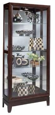 Philip Reinisch Co. Urbane Lighted Curio Cabinet Philip Reinisch Co.