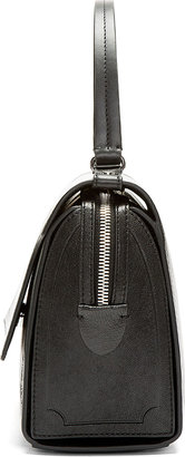 McQ Black Buffed Leather Top-Handle Bag