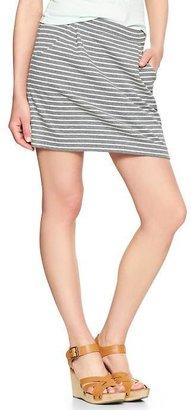 Gap Zip-back stripe jersey skirt