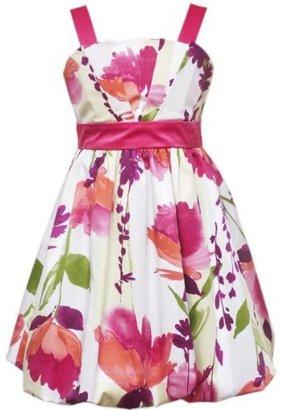 Rare Editions Girls 7-16 Tulip Print Woven Dress