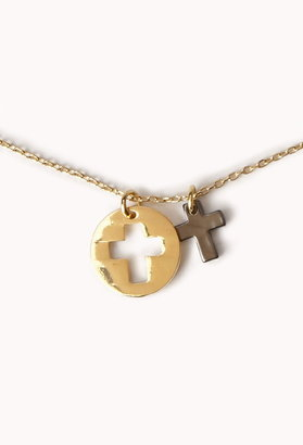 Forever 21 cross charm necklace