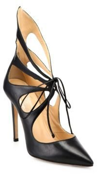Alejandro Ingelmo Mariposa Leather Tie-Up Pumps