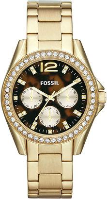 Fossil Ladies Riley Tortoise Dial Watch