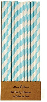 Toot Sweet Party Straws (Blue Stripe) $5.50 thestylecure.com
