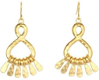 Lauren Ralph Lauren Small Metal Teardrop Hoops Earrings (Gold) - Jewelry