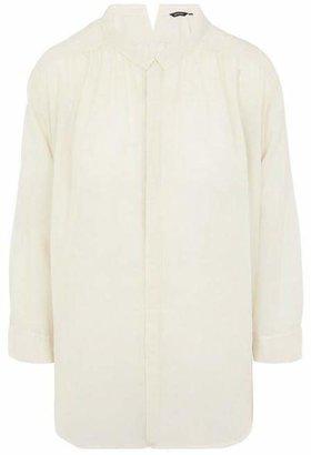 Pas De Calais Button-Up Mini Collar Blouse