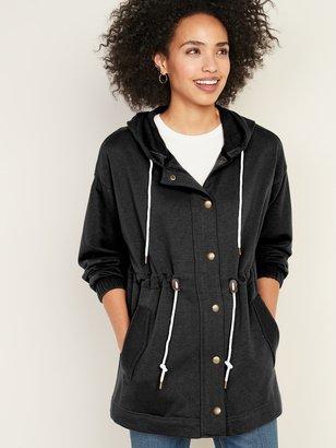 Old Navy Soft-Brushed Hooded Utility Jacket for Women