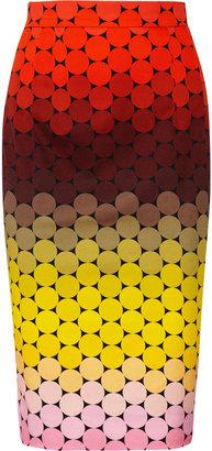 Jonathan Saunders Axel polka-dot stretch-cotton twill pencil skirt