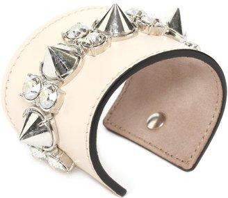 Alexander McQueen Spike Leather Cuff
