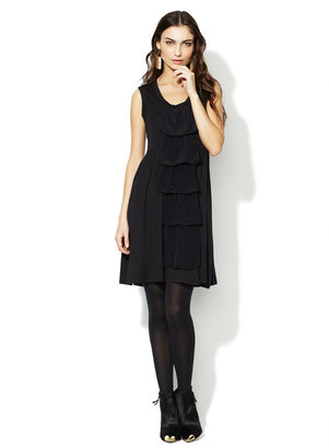 Nanette Lepore Jerry Ruffle Front Jersey Dress