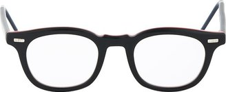 Thom Browne Black TB-403 Signature Stripe Glasses