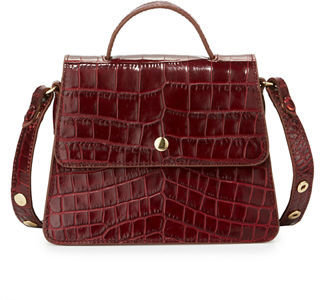 Elizabeth and James Eloise Mini Crocodile-Embossed Satchel Bag $395 thestylecure.com
