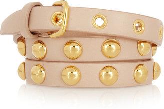 Miu Miu Studded leather skinny belt