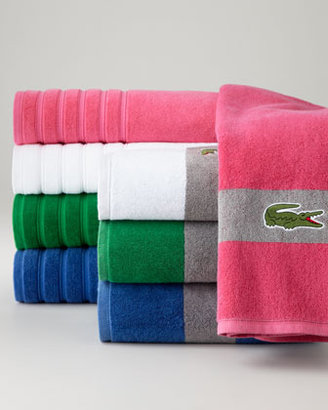 Lacoste Signature Stripe Bath Towel