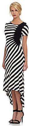 ECI Striped Hi-Low Dress