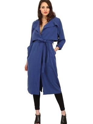 Mini Market Long Twill Trench Coat