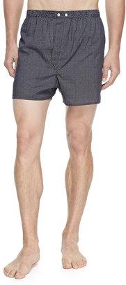Derek Rose Plaza Pindot Boxer Shorts, Navy