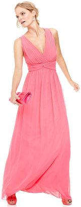 Calvin Klein Dress, Sleeveless Pleated Gown