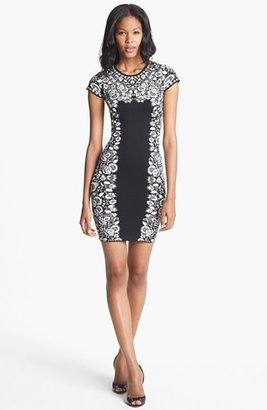 BCBGMAXAZRIA 'Fabiana' Patterned Knit Sheath Dress