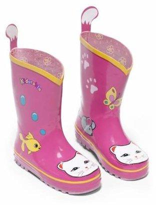 Kidorable Girls' Lucky Cat Rain Boot (Toddler/Little Kid)
