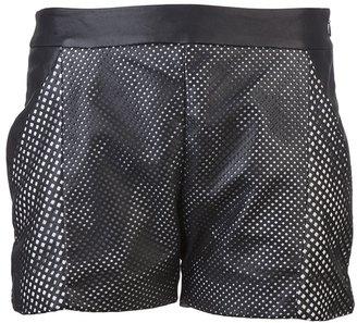 Ohne Titel Leather mesh shirt