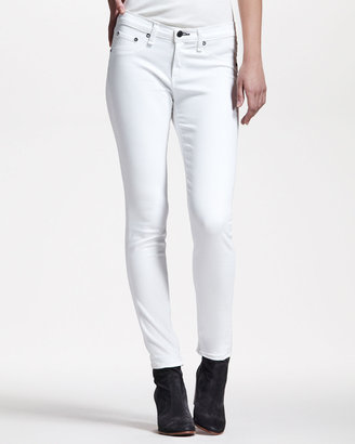 Rag and Bone Cropped Stretch-Twill Leggings, Bright White
