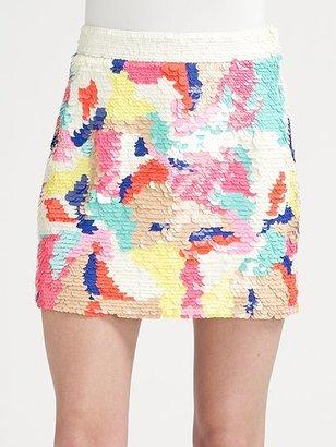 Tibi Begonia Sequined Skirt