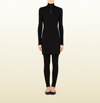 Gucci Women's Black High Neck Dress From Viaggio Collection