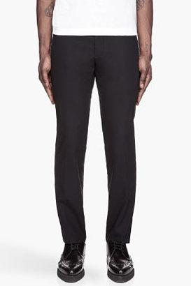 Lanvin Navy blue flared pleated trousers