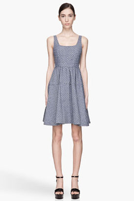 Marc by Marc Jacobs Blue and green Dotty Chambray Dress