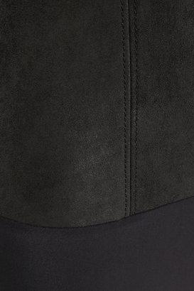 Maison Martin Margiela Suede and stretch-jersey bodysuit