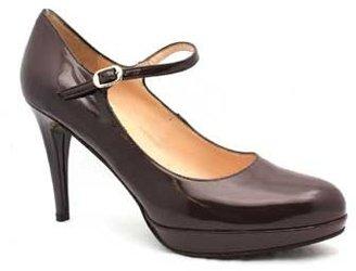 "Gastone Lucioli 5120"" Tortora (Brown) Patent Leather Mary Jane Pump"