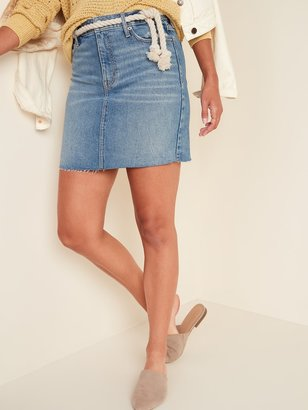 Old Navy High-Waisted Raw-Hem Jean Pencil Skirt for Women