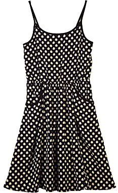JCPenney by&by Girl Black-and-White Polka Dot Spaghetti Strap Dress - Girls 7-16
